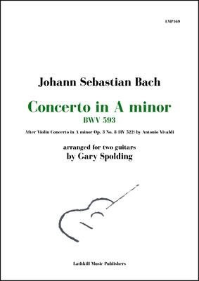 cover of Concerto in A minor, BWV 593 by Bach (after Vivaldi) arr. for two guitars by Gary Spolding