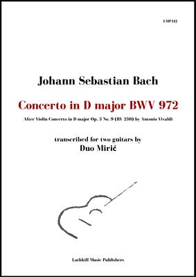 cover of Concerto in D major, BWV 972 by Bach (after Vivaldi) trans. Duo Miric