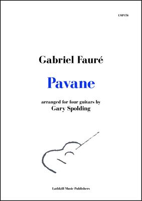 cover of Pavane by Fauré arranged for four guitars by Gary Spolding
