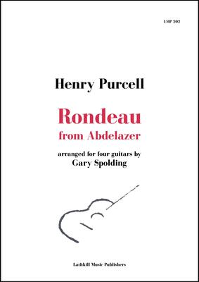 cover of Rondeau from Abdelazer by Purcell arranged for guitar orchestra by Gary Spolding - free sheet music