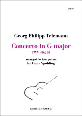 cover of Concerto in G major, TWV 40:201 by Georg Philipp Telemann arranged for four guitars by Gary Spolding
