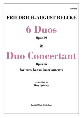 cover of 6 Duos Opus 50 and Duo Concertant Opus 55 by Belcke trans. Gary Spolding