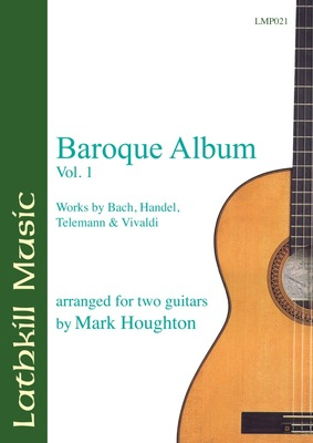 cover of Baroque Album - Vol 1. Bach, Handel, Telemann & Vivaldi arranged by Mark Houghton