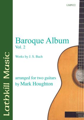cover of Baroque Album Vol 2.  J.S. Bach (arranged by Mark Houghton)