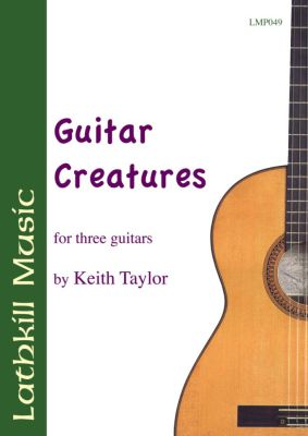 cover of Guitar Creatures for three guitars by Keith Taylor