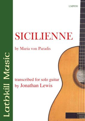 cover of Sicilienne by Maria Von Paradis (arranged Jonathan Lewis)