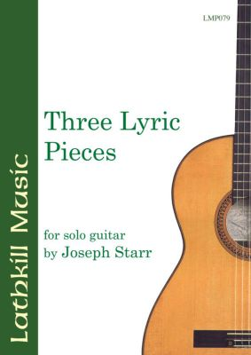 cover of Three Lyric Pieces vol. 1 by Joseph Starr