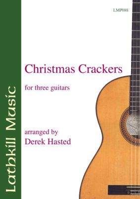 cover of Christmas Crackers for Three Guitars (arranged by Derek Hasted)
