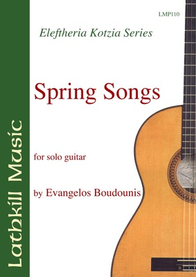 cover of Spring Songs for Solo Guitar by Evangelos Boudounis