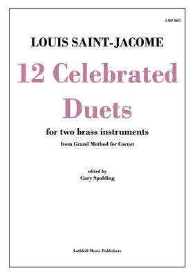 cover of 12 Celebrated Duets by Saint-Jacome trans. Gary Spolding